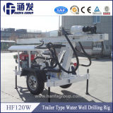 De Installatie van de Boring van de Put van het Water van de Wielen van de draagbare & Hoge Efficiency Hf120W