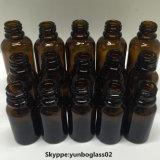 Botellas de petróleo esencial de cristal ambarinas superiores del claro 10ml de la alta calidad