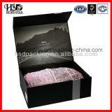 Caja de zapatos plegable de lujo del papel de caja de zapatos de la caja de zapatos