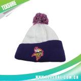 球の上(094)が付いているカスタマイズされたアクリルの冬によって編まれる帽子の帽子