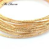 Les bracelets de luxe de marque ont placé des bracelets de bracelets de couleur d'or du bijou 5A