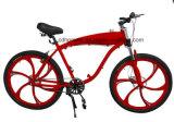 Magの車輪が付いている赤いカラー自転車