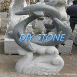 정원 샘 현무암 조각품