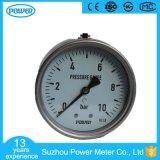 100mm Al Manometer van de Aansluting van het Type van Roestvrij staal Achter Lagere