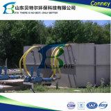 a planta do tratamento da água do desperdício da água de esgoto 50tpd doméstica, remove o bacalhau, BOD