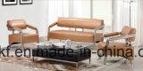 Sofà attendente di cuoio dell'ufficio dell'Europa del metallo d'acciaio moderno di disegno (NS-D6073)