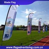Bunte einseitig oder doppelseitiges Drucken Fliegende Klinge Flagge