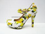 Zapatos de alineada al por mayor del alto talón de las mujeres Foowear con la plataforma