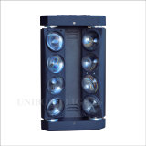 8*10W RGBW LED doppelte Zeile Armkreuz-Stadiumpub-Licht