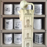 La toilette personnalisée essuie le tissu de cuisine estampé par papier de toilette de nouveauté