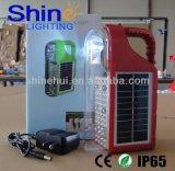 Напольный и крытый портативный перезаряжаемые сь солнечный фонарик
