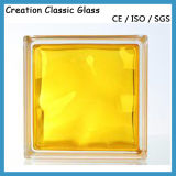 mattone di vetro libero o colorato di 80mm del Ostruire-Vetro