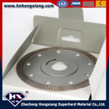 Turbo aggloméré Diamond Saw Blade pour Title Granite Marble Cutting