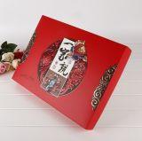Modificado para requisitos particulares 8 pedazos de rectángulo de alto grado de Mooncake de la mano, rectángulo de regalo de Mooncake