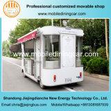 De Elektrische Mobiele Aanhangwagen van vier Wielen/de Commerciële Vrachtwagen van de Tentoonstelling voor Verkoop