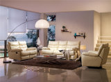 Sofá de la sala de estar con el sofá moderno del cuero genuino fijado (703)