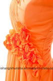 소매 없는 긴 시퐁 신부 드레스 결혼식 가운 신부 들러리 복장