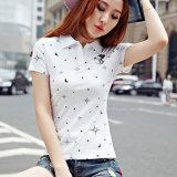 Camicia di polo delle donne su ordinazione di stile casuale di estate di alta qualità di Guangzhou