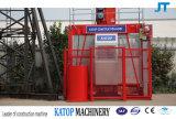 Katop alzamiento SC200 / 200 2t carga jaula doble construcción mástil