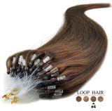 Человеческие волосы Remy микро- выдвижений волос кольца петли горячие