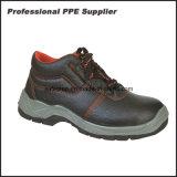 Zapatos de seguridad estáticos antis de la punta de acero de doble densidad del cuero genuino