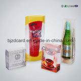 Rectángulo plegable plástico del animal doméstico noble del PVC para el empaquetado del vino rojo