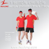 Healong nenhuns projetos do uniforme do Badminton da impressão do Tingir-Sublimation de MOQ