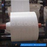 Tissu tissé par pp stratifié blanc de polypropylène de géotextile