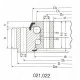 Rolamento dobro do giro do rolo da fileira para a máquina escavadora da lagarta