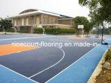 Aucun étage de verrouillage de terrain de basket d'odeur pour le stade et l'arrière-cour