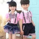 Modelos primarios del uniforme escolar de la venta caliente, uniforme escolar de los niños con buena calidad