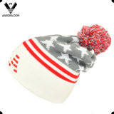 Patrón de acrílico Jacquard estrella EE.UU. bordado Beanie sombrero