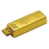 Het speciale Geheugen van de Flits van de Staaf USB van de Vorm Gouden