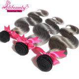 Vente en gros de cheveux humains péruviens Ombre Colored Remy Hair Weft