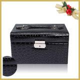 Jóia/caixa armazenamento luxuosas personalizadas dos cosméticos