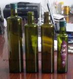 Bottiglie di vetro verde oliva rotonde con colore libero verde ambrato