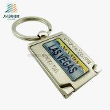 昇進のための熱い販売法の合金の鋳造プリント金属の銀Keychain