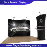 Soporte de visualización curvado publicitario impresionante de la tensión de la tela para el nuevo lanzamiento del coche