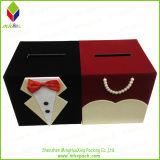 Caja de regalo de boda rígido lindo para la recogida de dinero