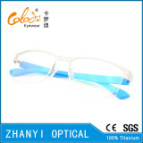 Form Halb-Randlose TitanEyewear Brille-Glas-optischer Rahmen (8208)