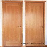 Porte d'entrée en bois solide de modèle moderne