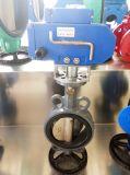 válvula de borboleta revestida pneumática da bolacha de PTFE