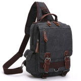 人のための偶然のキャンバスの不均衡のバックパックのCrossbodyの吊り鎖袋のショルダー・バッグの箱袋