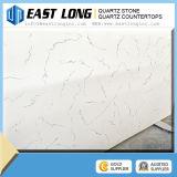 Partie supérieure du comptoir blanche de quartz de modèle de cuisine de pierre de glace américaine populaire de couleur