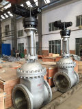 API / GOST / DIN Dn700 Control de motor eléctrico Py16 Válvula de compuerta de acero fundido