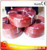Cavo di riscaldamento rosso della gomma di silicone del diametro 2mm 220V 0.1ohm/M di colore