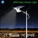 Indicatore luminoso di via solare Integrated dell'alluminio durevole poco costoso di prezzi della fabbrica