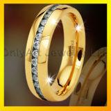 jóia apta do aço inoxidável da forma 316L da qualidade do conforto com CZ