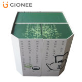 Impresión de empaquetado plegable modificada para requisitos particulares del rectángulo de la tarjeta de papel para el té