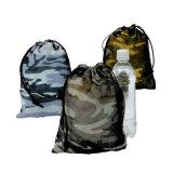 Sac fait sur commande de repli de camouflage de polyester